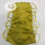 10 In 1 Facemask (Golden Yellow) With Elastic Eargrip | Clothing Accessories for sale in Lagos State, Ajah