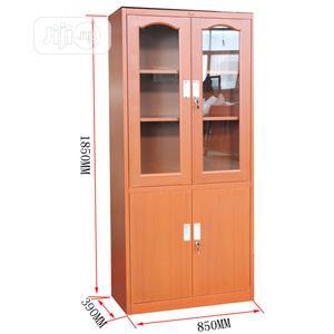 Half Glass Half Cupboard Metal Wood Colour Finishing | Furniture for sale in Lagos State, Yaba