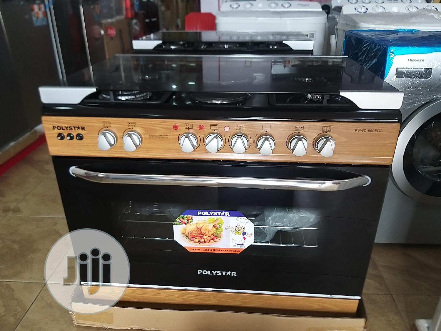 Polystar Gas Cooker 5gas Burner
