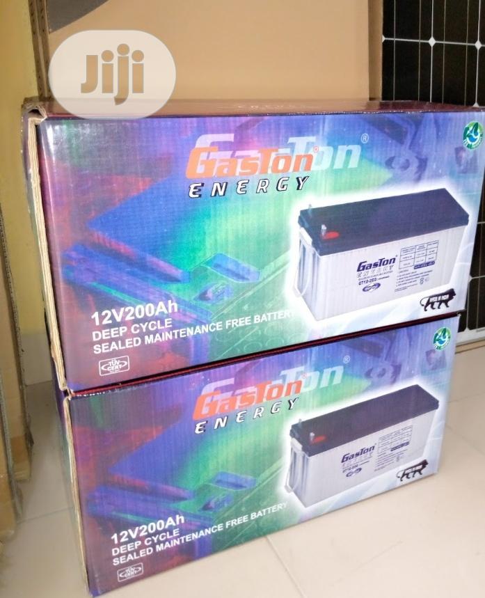 12v 200ah Gaston Battery Available
