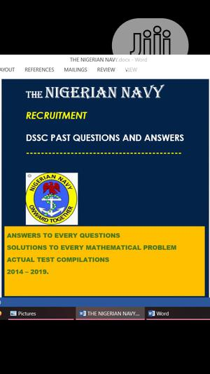 Nigeria Navy DSSC Past Questions   Books & Games for sale in Rivers State, Port-Harcourt