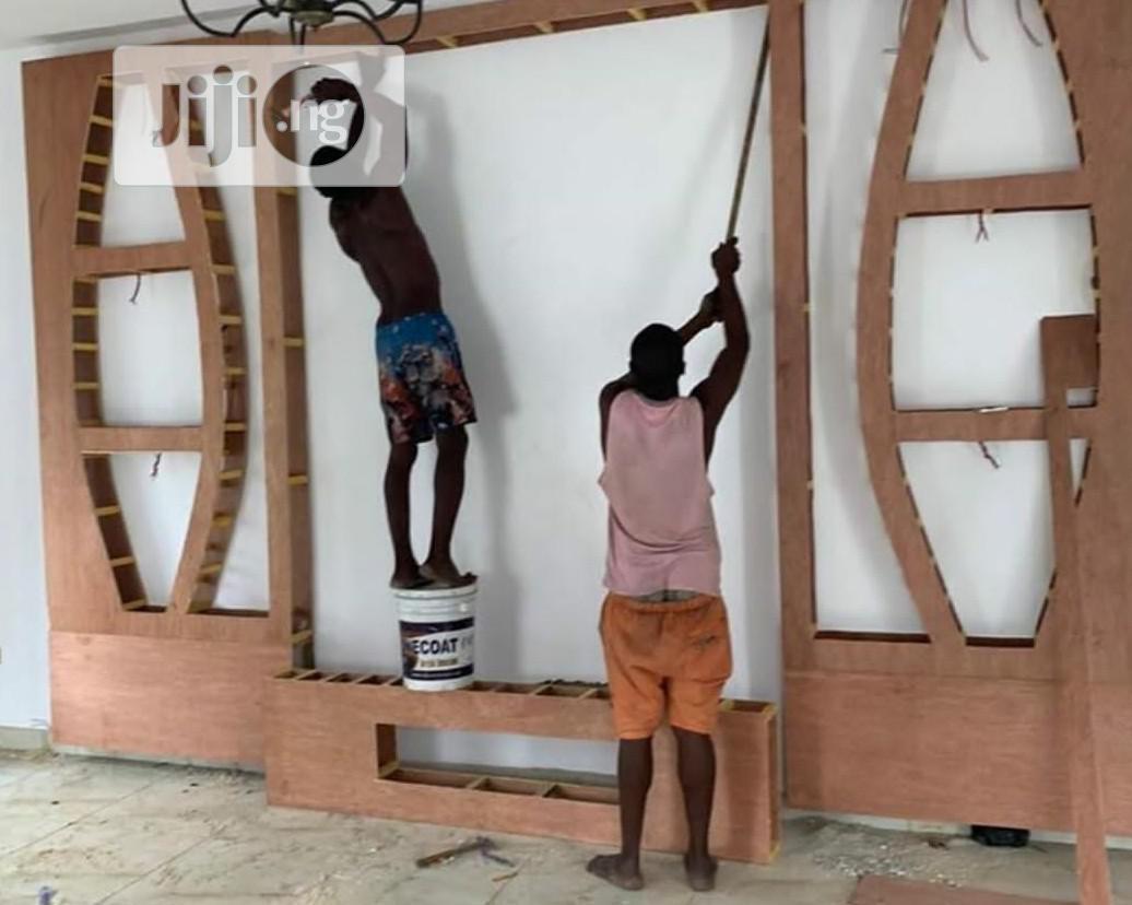 False Wall TV Unit | Furniture for sale in Magodo, Lagos State, Nigeria