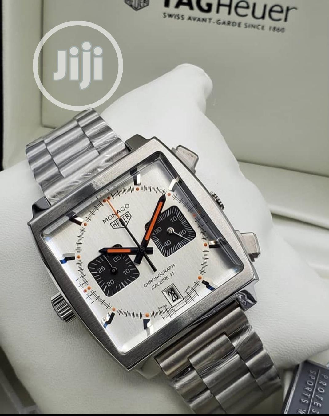 Tag Heuer Sliver Wrist Watch for Men   Watches for sale in Magodo, Lagos State, Nigeria