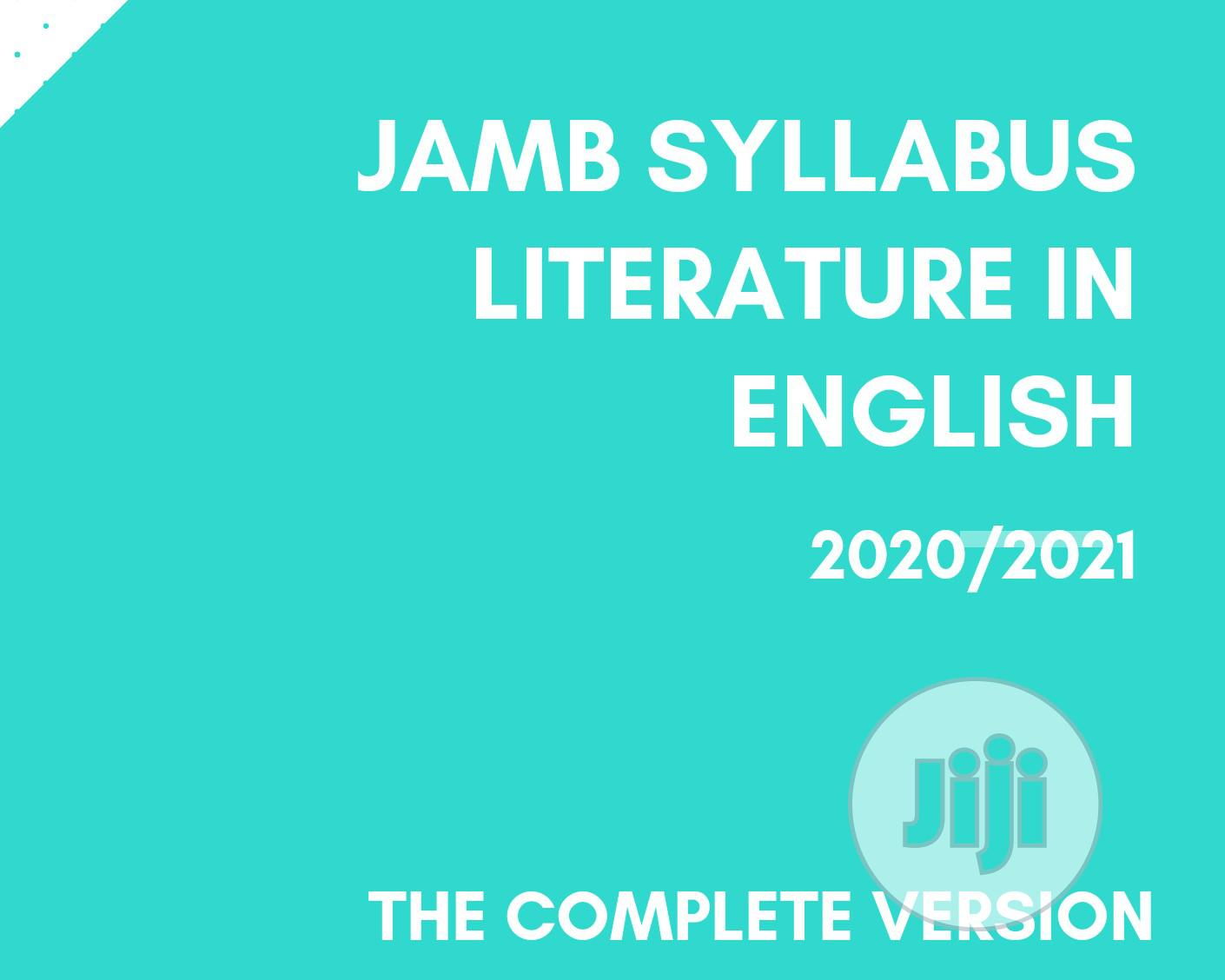 Archive: Jamb Syllabus Literature In English: The Complete Version