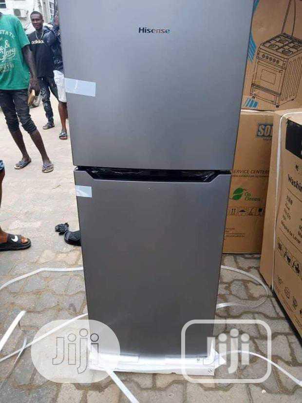 New Hisense 130L Double Dool Refrigerator (Ref182dr) Silver Color