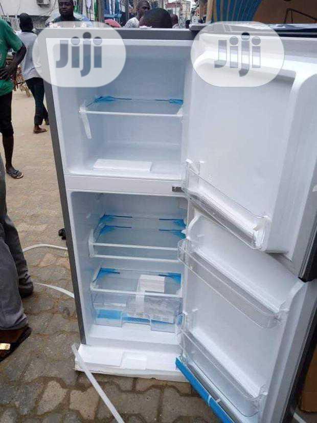 New Hisense 130L Double Dool Refrigerator (Ref182dr) Silver Color   Kitchen Appliances for sale in Ojo, Lagos State, Nigeria