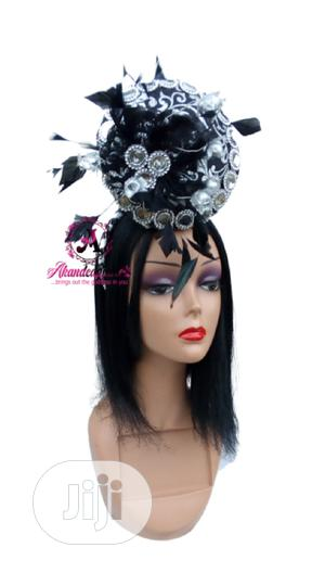 Black and Silver Percher Fascinator | Clothing Accessories for sale in Lagos State, Ikorodu