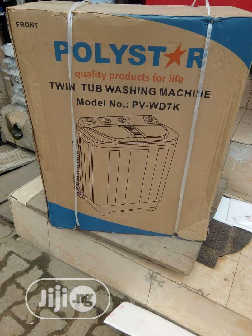 Polystar Washing Machine Pv-7kg   Home Appliances for sale in Ojo, Lagos State, Nigeria