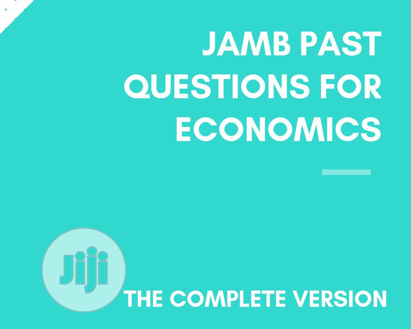 Archive: Jamb Past Questions: Economics