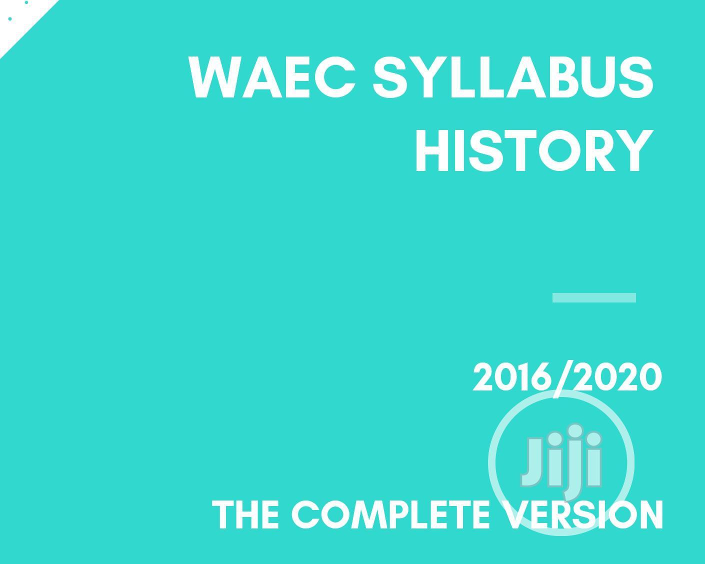 Archive: WAEC Syllabus: History
