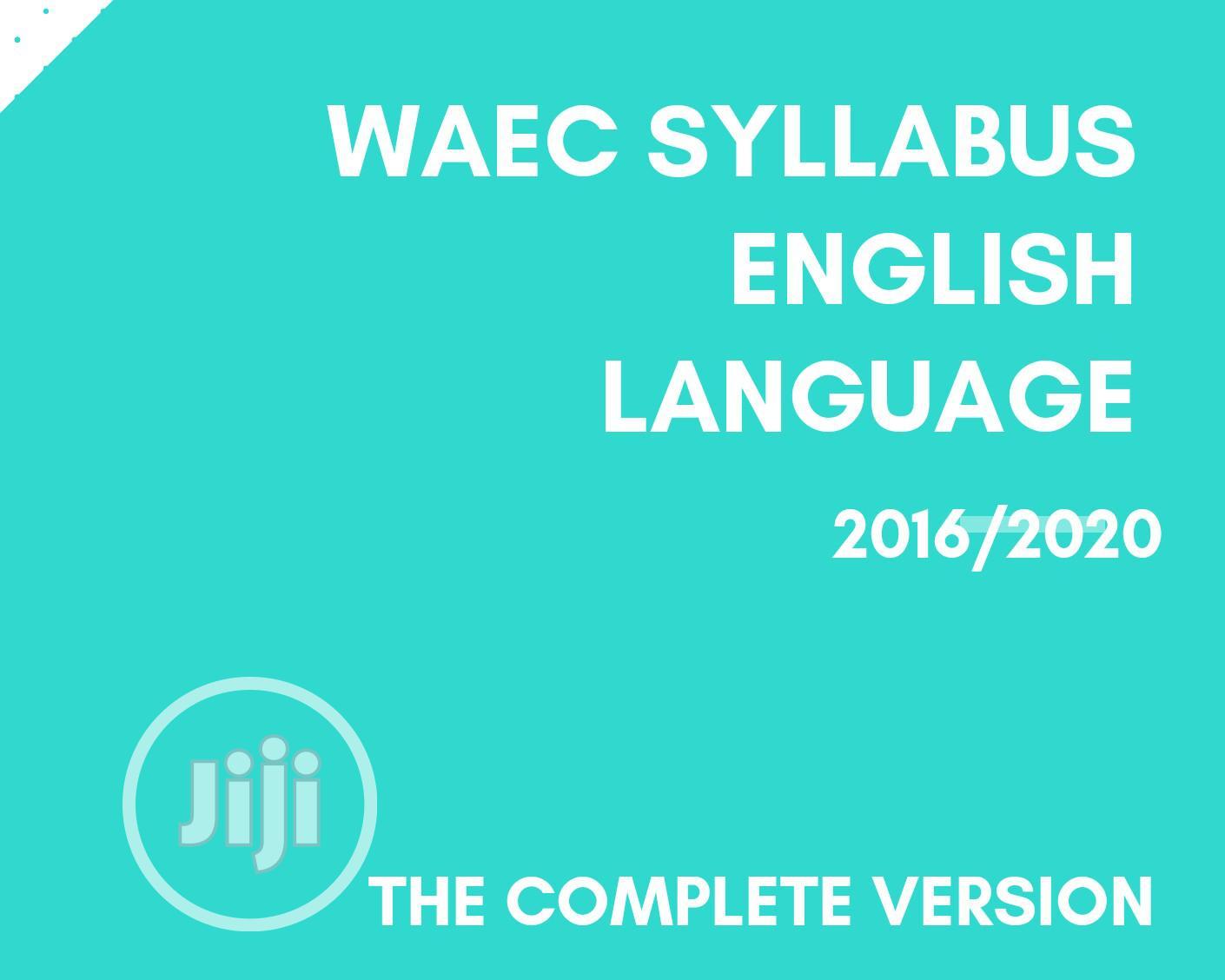 Archive: WAEC Syllabus: English Language