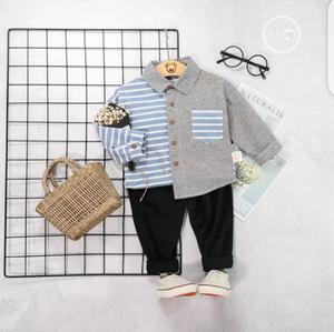 Boys Half Check Print Shirt And Trouser   Children's Clothing for sale in Lagos State, Surulere