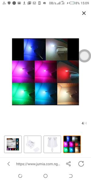 8 Colors Night Lights Motion Sensor LED Toilet Seat Bowl Lamp   Home Accessories for sale in Abuja (FCT) State, Kubwa
