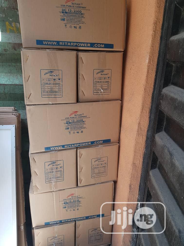 12V 200ah Ritar Solar Battery