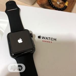 Apple Watch Series 3 (GPS, 38mm) - Space Gray Aluminum Case With Black | Smart Watches & Trackers for sale in Lagos State, Ikeja