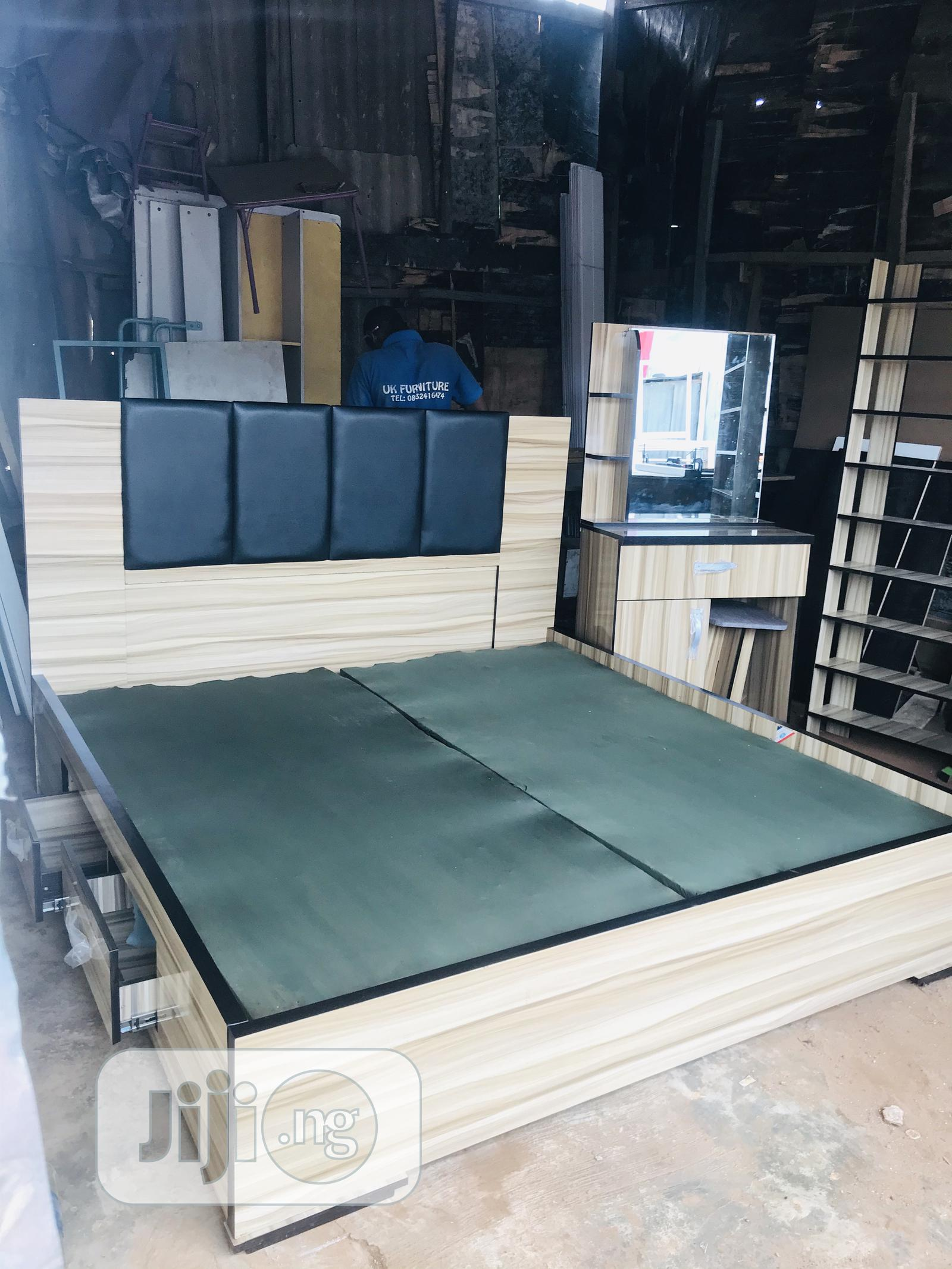 New Bed Frame 6by6 With Side Drawers Very Solid