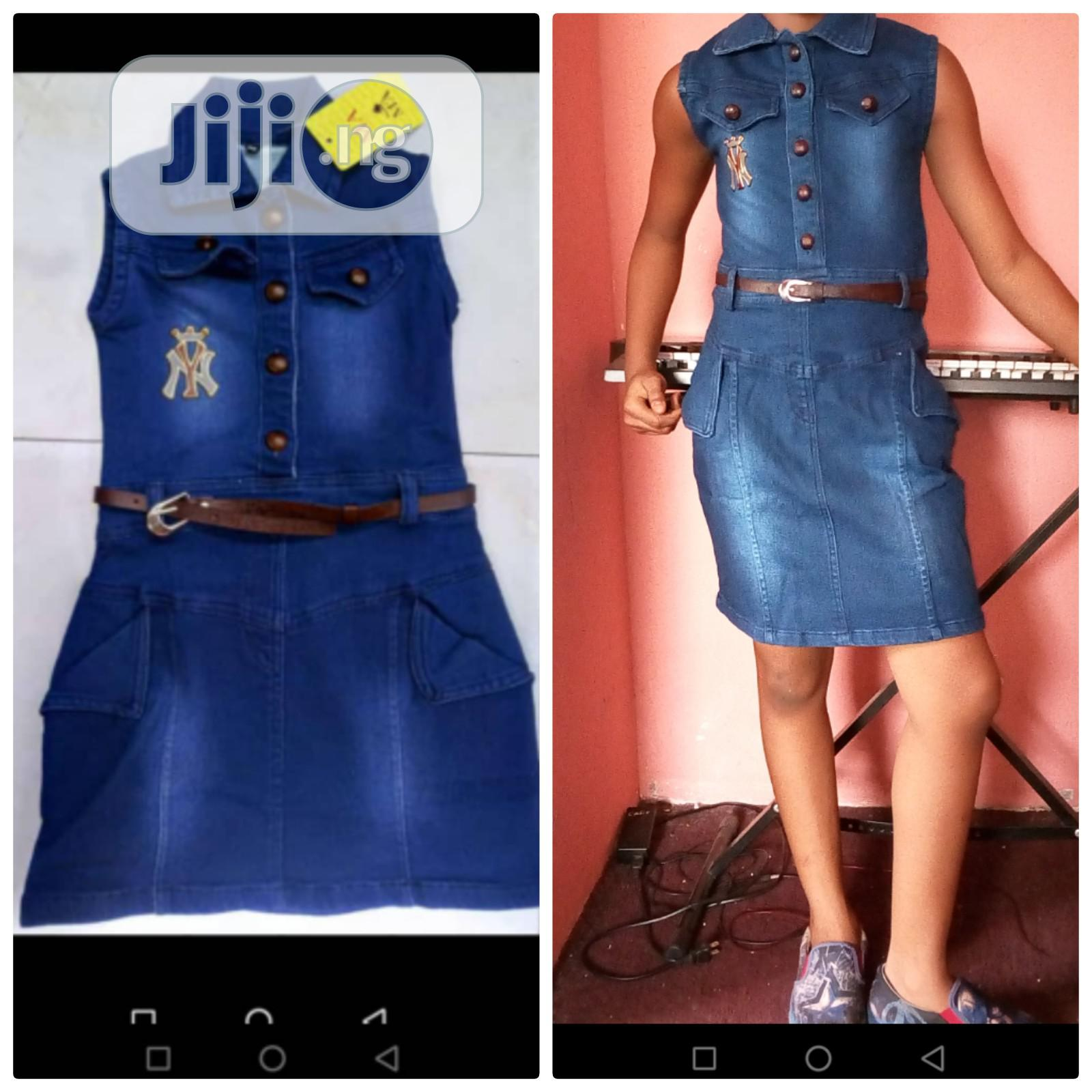 Archive: Quality Jean Dress for Kids From 4-9yrs