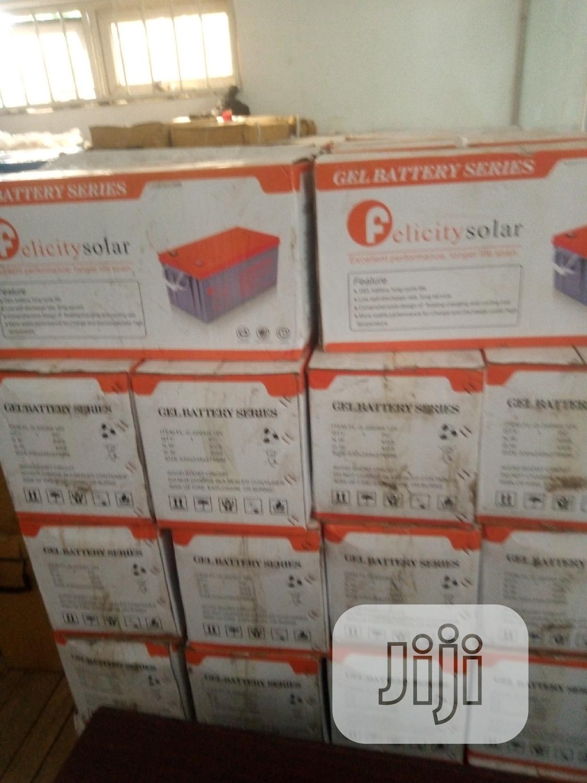 Archive: 200ah/12v Felicity Solar Gel Battery