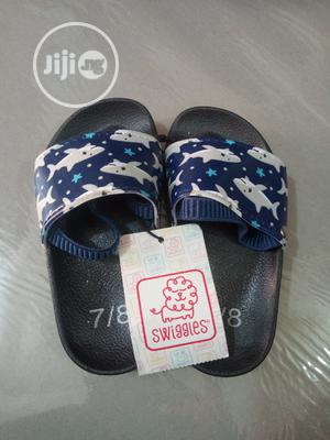 Toddler Boys Blue Shark Sliders - US Size 7/8   Children's Shoes for sale in Lagos State, Surulere