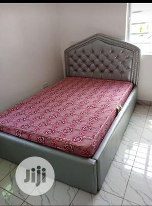 Upholstery Leather Bed With Mattress   Furniture for sale in Lagos State, Lekki