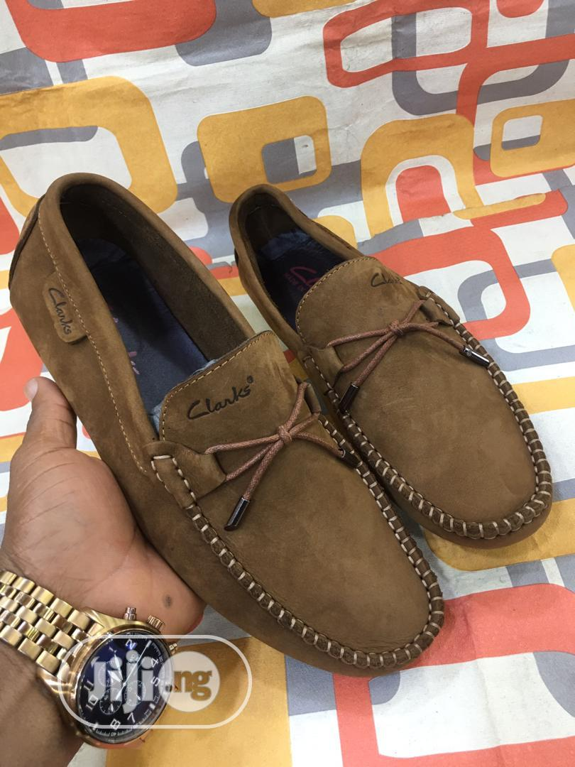 Check Out This Lovely Clarks Suede Shoe for Men Available. | Shoes for sale in Lagos Island, Lagos State, Nigeria