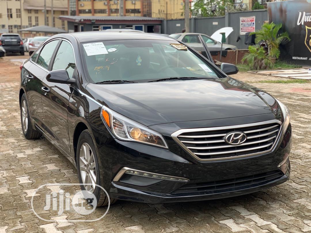 Hyundai Sonata 2016 Black   Cars for sale in Ikeja, Lagos State, Nigeria