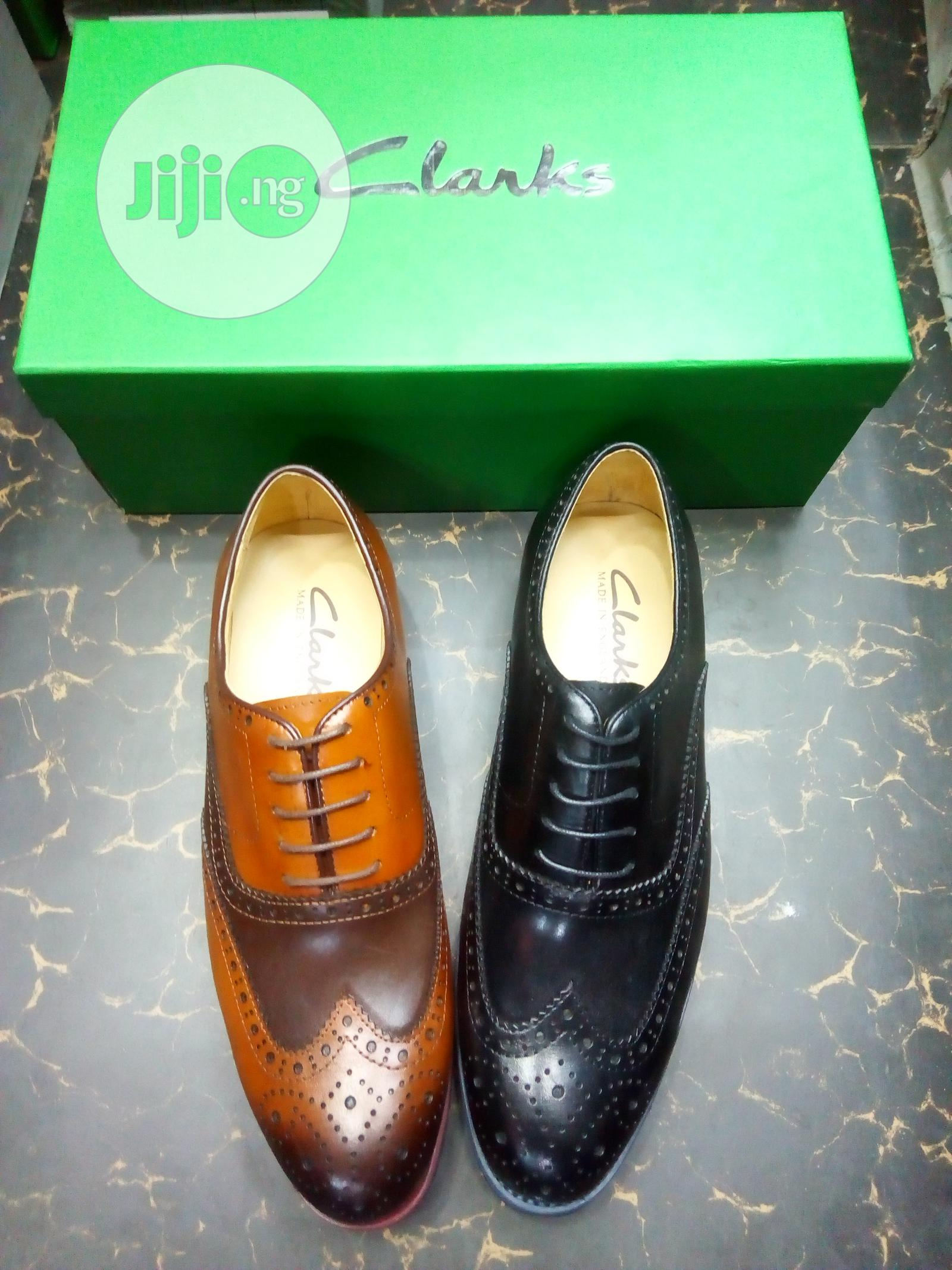 Clark's Men's Wedge Sole Brogues Shoes