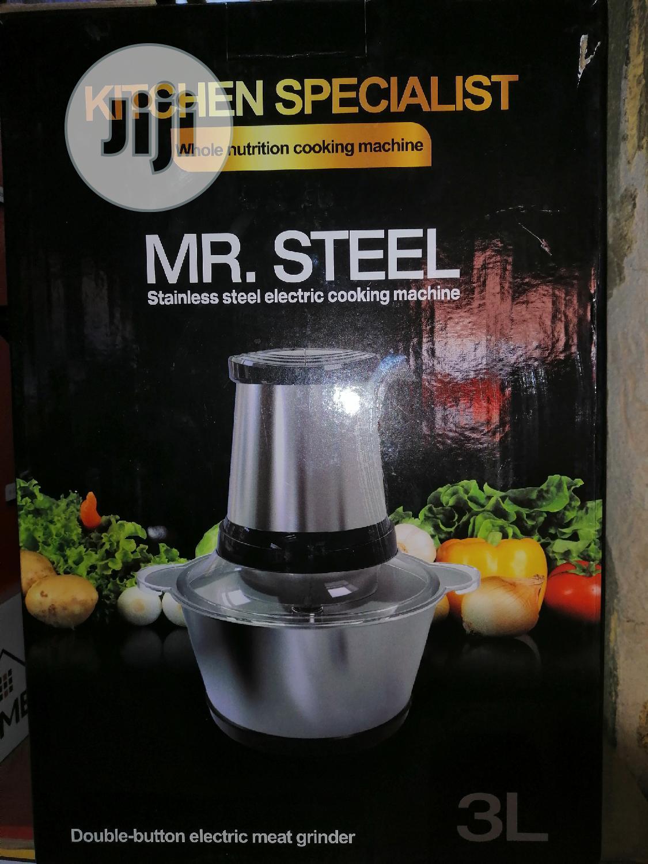 Mr Steel 3L Yam Pounder & Food Processor
