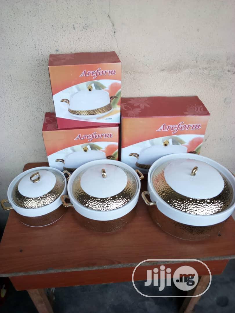 3 Sets Arcform Food Warmer Set
