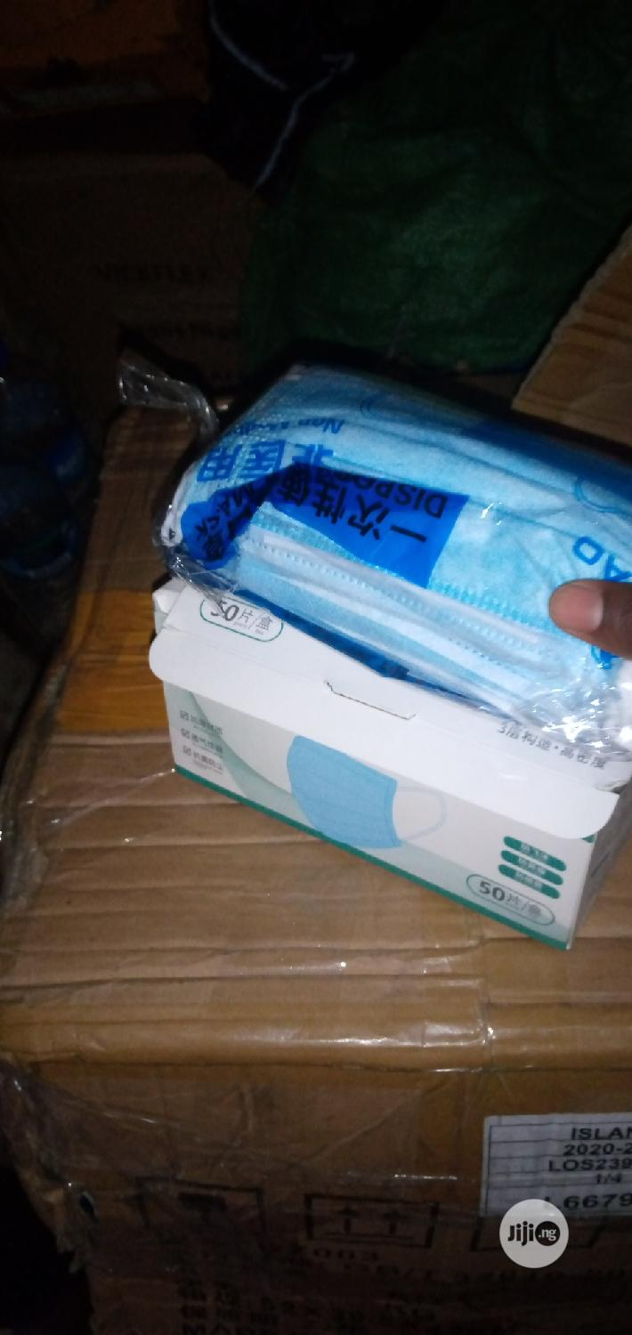 Original 3ply Surgical Face Mask With Certificate | Medical Supplies & Equipment for sale in Lagos Island (Eko), Lagos State, Nigeria