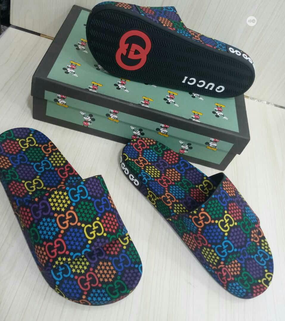 Original Quality and Beautiful Men Designers Gucci Slippers