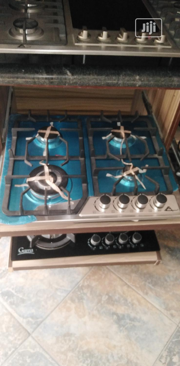 Four Burner Glass Gas Cooker With Eletric