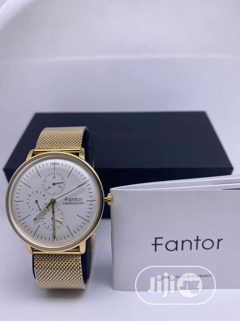 Fantor Gold Chain Watch