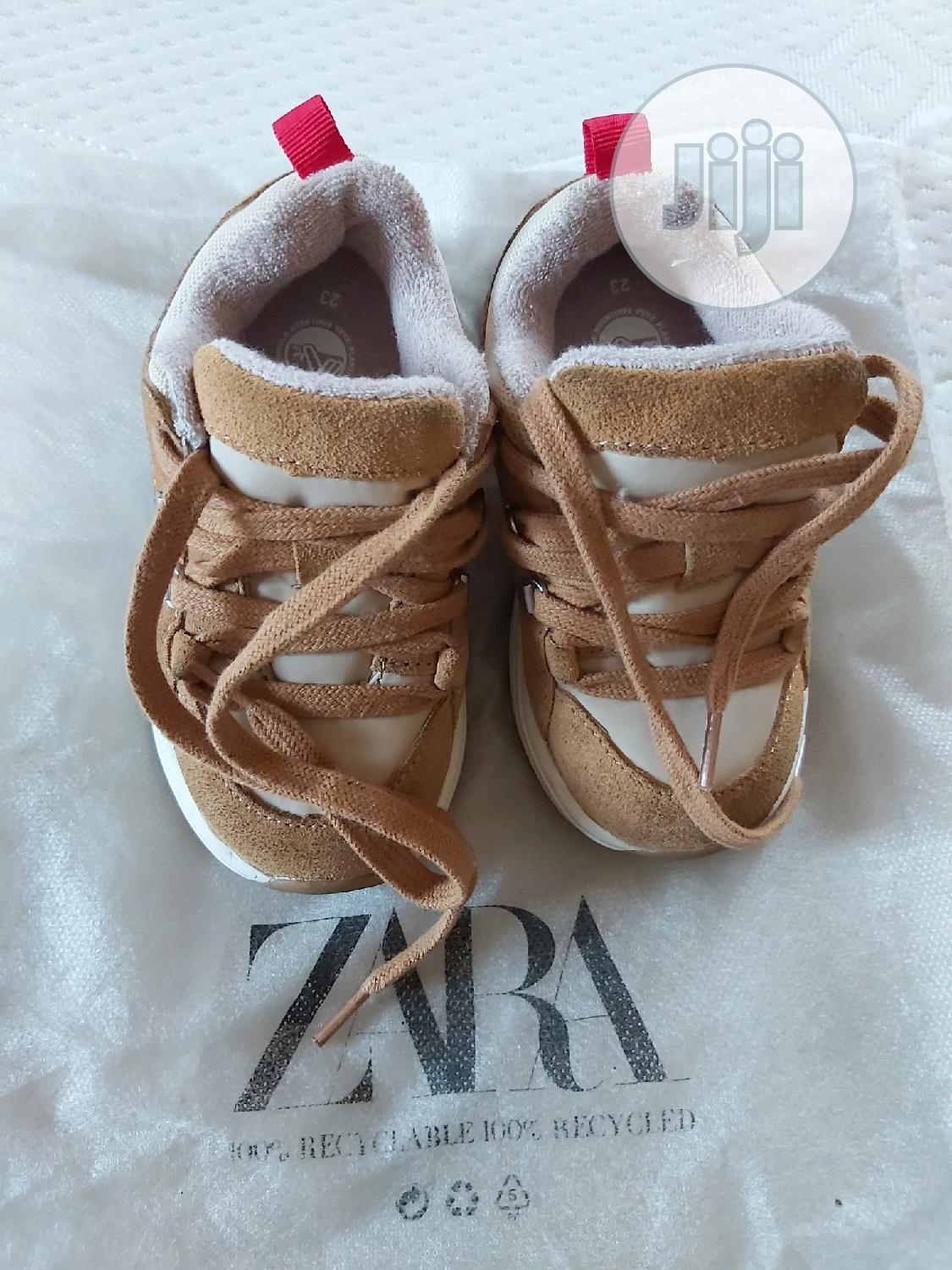 High Quality Zara Leather Mix Sneakers | Children's Shoes for sale in Ikeja, Lagos State, Nigeria