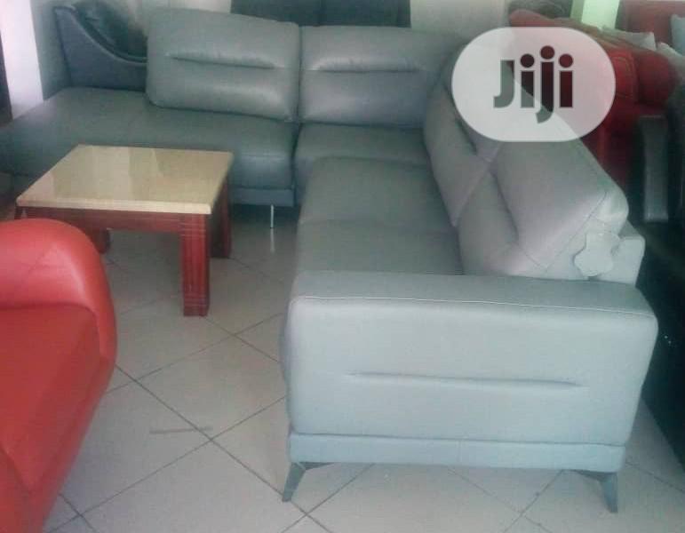 Executive Pure Italian Leather L Shape Sofa Chair