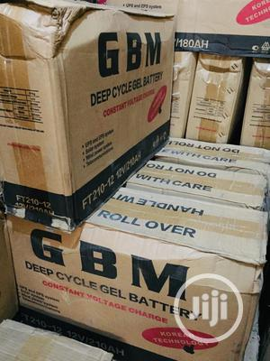 210ah 12volts GBM Slim Battery Available | Solar Energy for sale in Lagos State, Mushin