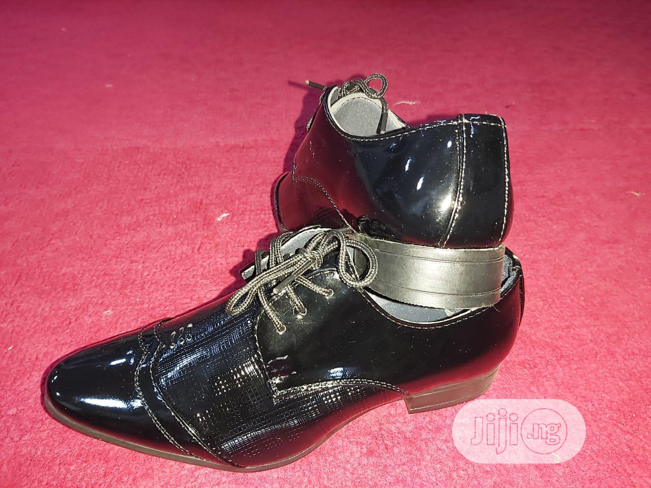 Khard Laced Black Shoes | Children's Shoes for sale in Ojodu, Lagos State, Nigeria