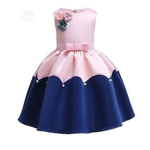 Girls 2 Tone Dress -With Rose Details   Children's Clothing for sale in Lagos State, Ojodu