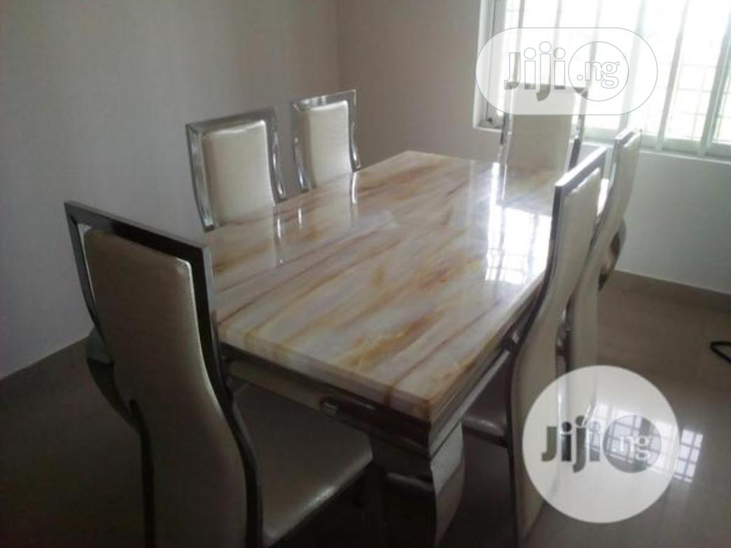 New Exotic 6 Seater Marble Dinning Table And Chairs | Furniture for sale in Lekki, Lagos State, Nigeria