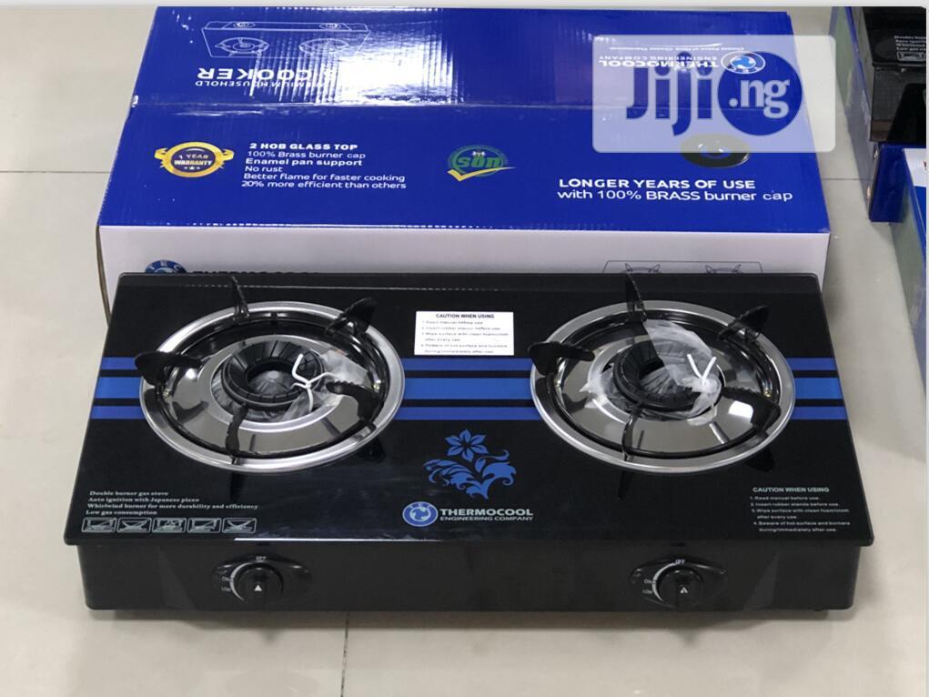 2 Burner Automatic Thermocool Glas Gas