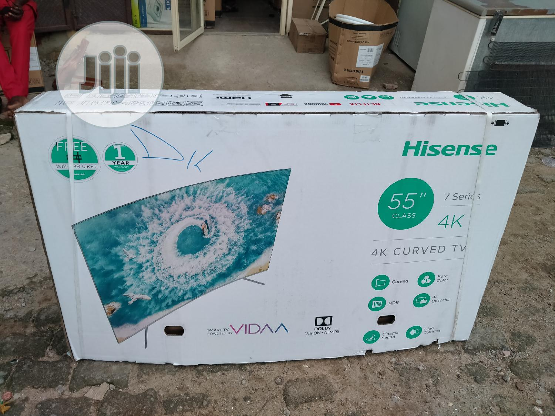 Hisense Smart Curved Led 4K UHD TV 55 Inch