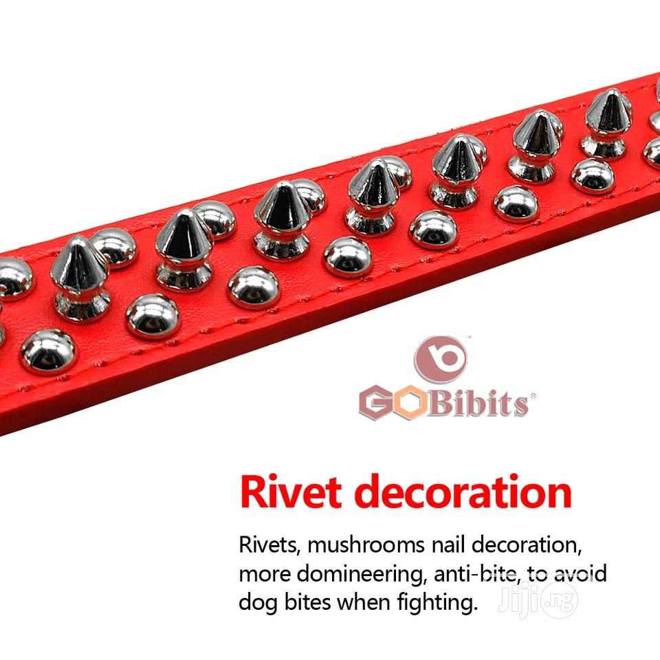Spiked Rivet Studded PU Leather Dog Collar | Pet's Accessories for sale in Ifako-Ijaiye, Lagos State, Nigeria