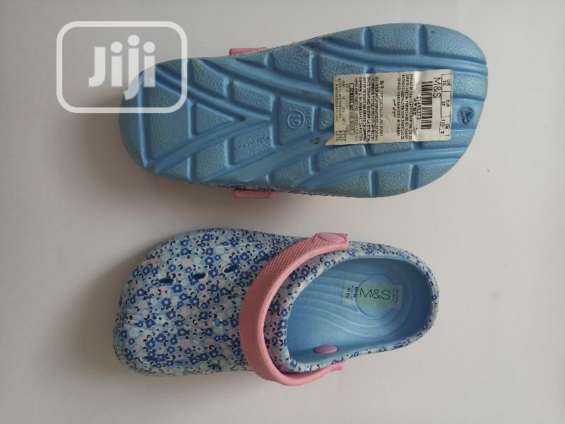 Marks Spencer Blue Dotted Crocs Sandals