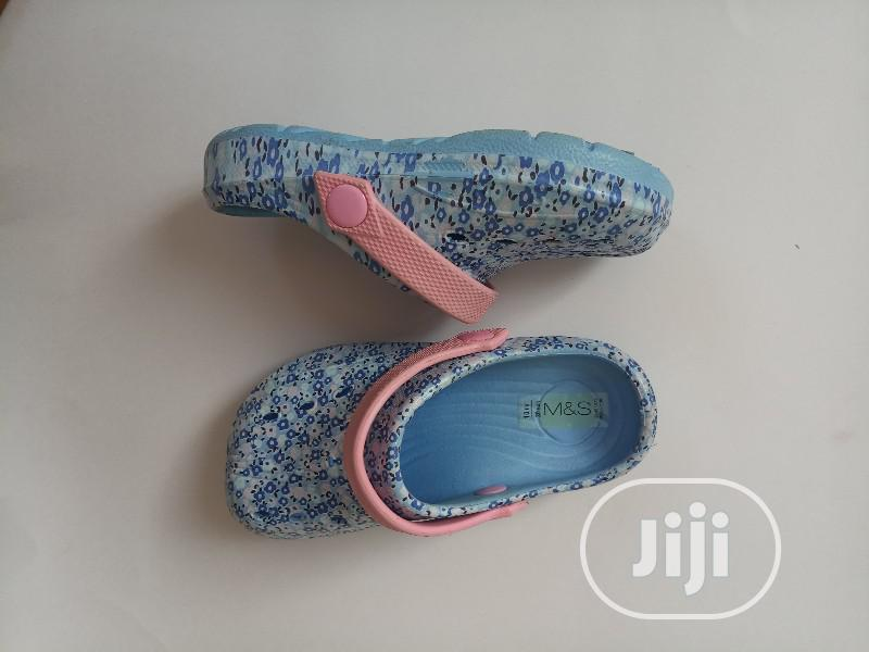 Marks Spencer Blue Dotted Crocs Sandals | Children's Shoes for sale in Lagos Island, Lagos State, Nigeria