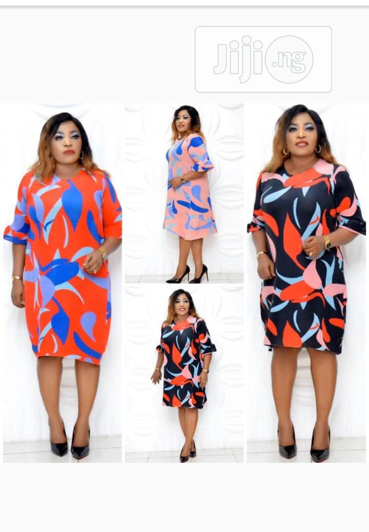 Quality Ladies Multicolored Gown | Clothing for sale in Ifako-Ijaiye, Lagos State, Nigeria