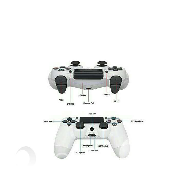 Sony Ps4 Game Pad Dual Shock 4 Wireless Controller-White | Accessories & Supplies for Electronics for sale in Ikeja, Lagos State, Nigeria