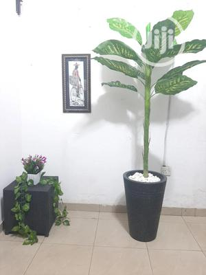 Decorative Black Vase And Artificial Palm Plants | Home Accessories for sale in Lagos State, Ikeja