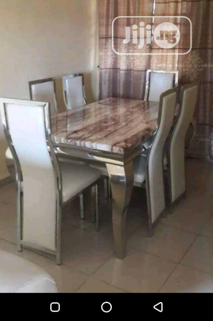 Marble Dinning Set | Furniture for sale in Ojo, Lagos State, Nigeria