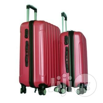 4 Wheel ABS Luggage Travel Bag Rolling Luggage (Red)