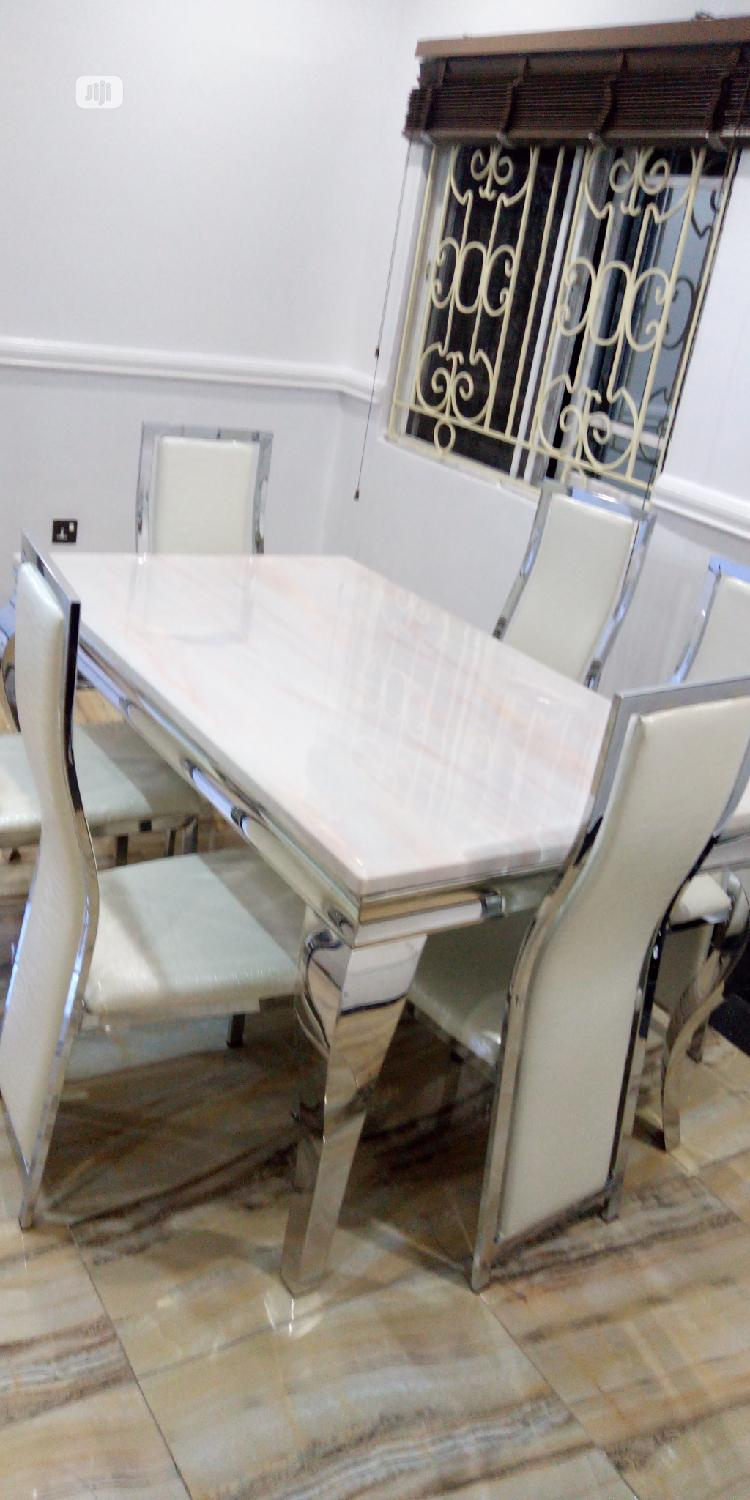 Archive: 6 Seaters Marble Dining Table